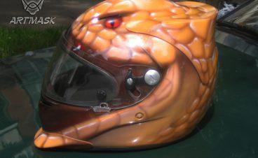 Аэрография «Artmask» на шлемах для картинга