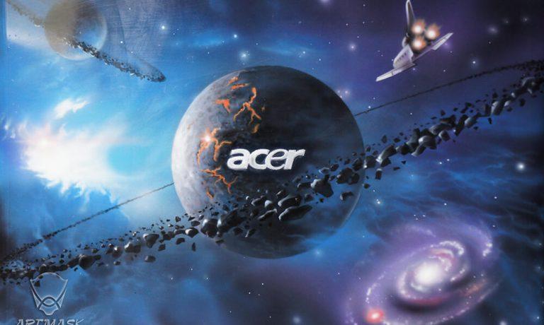 Аэрография «Космобук» на ноутбуке Acer