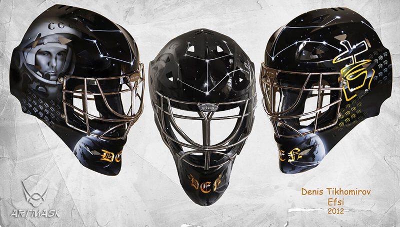 Аэрография «Любительская лига 2012» на вратарской маске