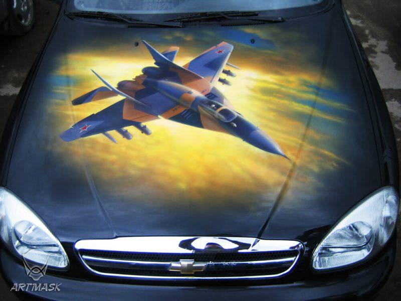 Аэрография «МИГ-29» на Chevrolet Lanos