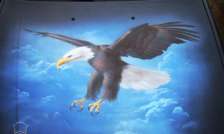 Аэрография «Орел» на Daewoo Nexia