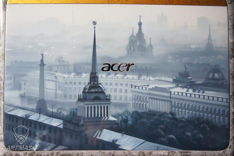 Аэрография «Петербук» на ноутбуке Acer