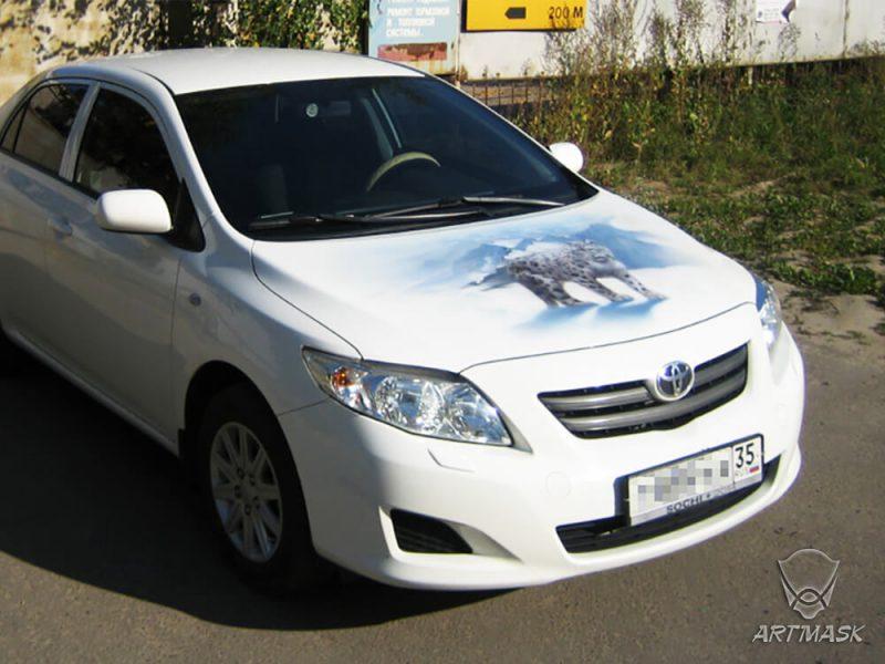 Аэрография «Снежный барс» на Toyota Corolla