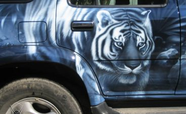 Аэрография «Тигр» на Great Wall Safe