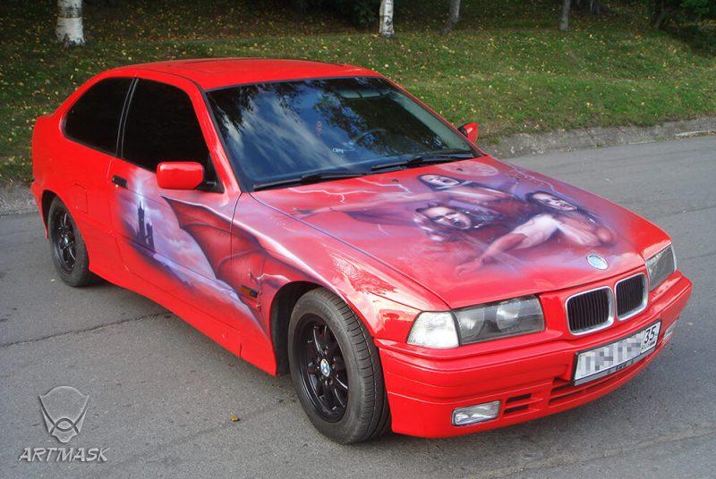 Аэрография «Ван Хельсинг» на BMW
