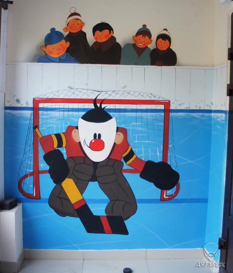 Роспись стен магазина хоккейной экипировки «Твоя игра»