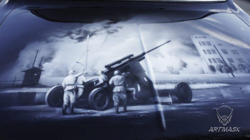 Аэрография «День Победы» на ГАЗ-3102