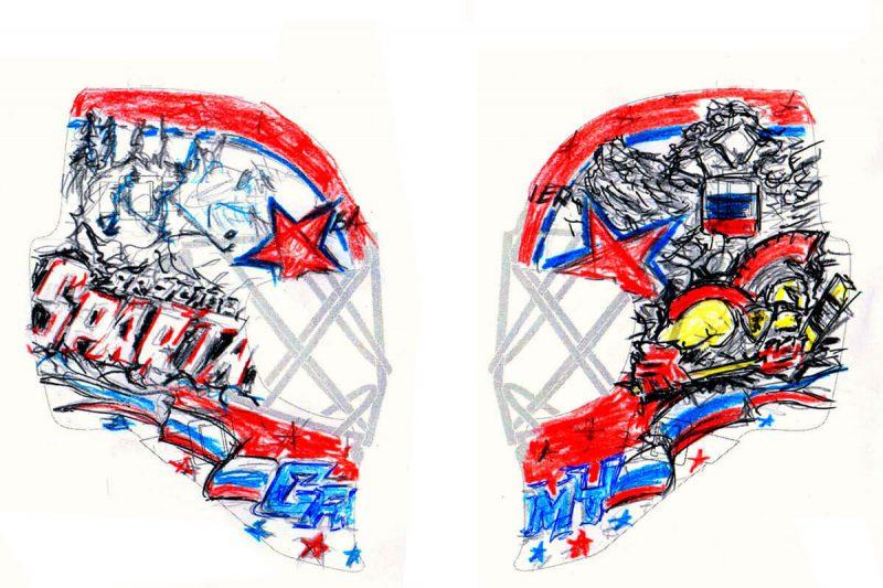 Аэрография «Gromys Dream» на вратарском шлеме