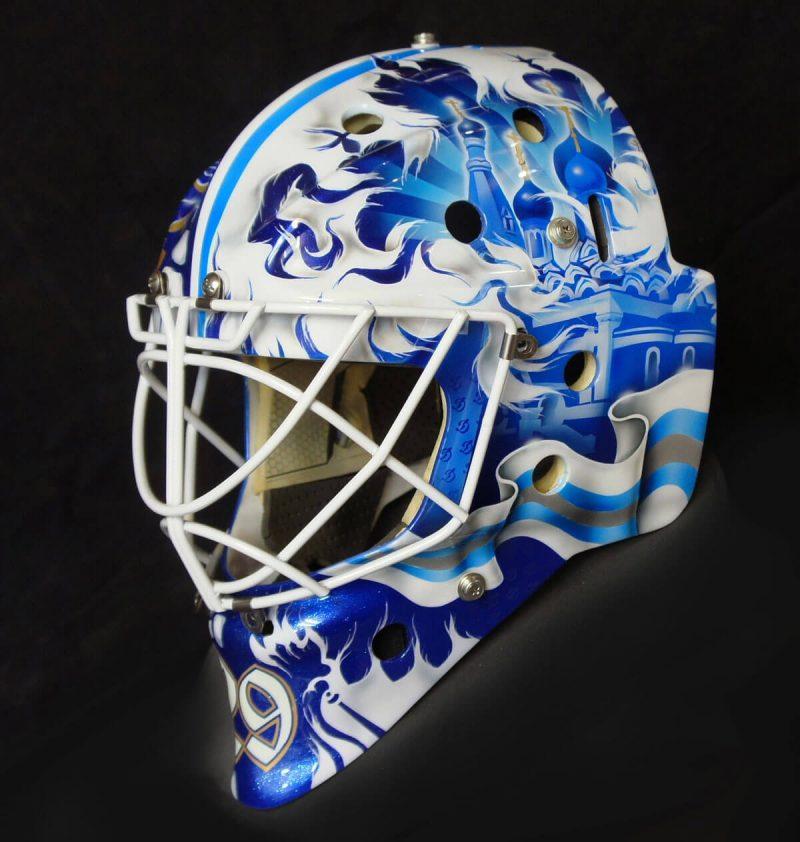 Аэрография «National Style» на вратарском шлеме