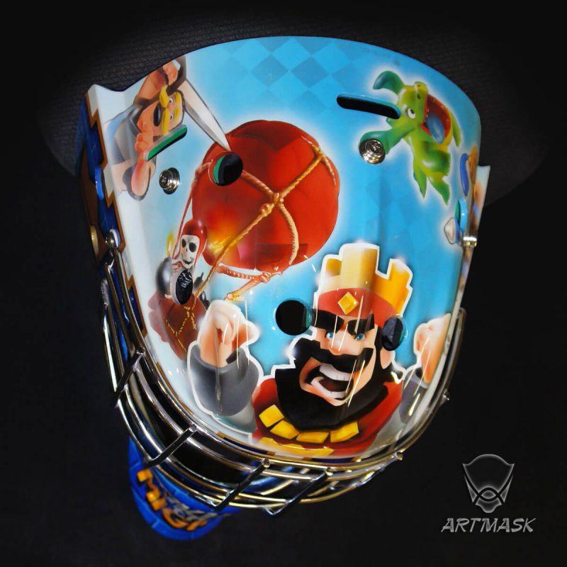 Аэрография «Clash Royale» на вратарском шлеме