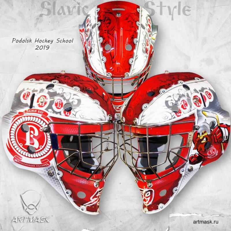 """Аэрография """"Slavic Style"""" на вратарском шлеме"""