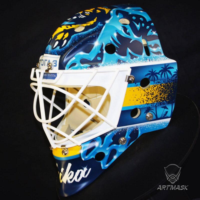 "Аэрография ""Sochi Flavor""на вратарском шлеме"