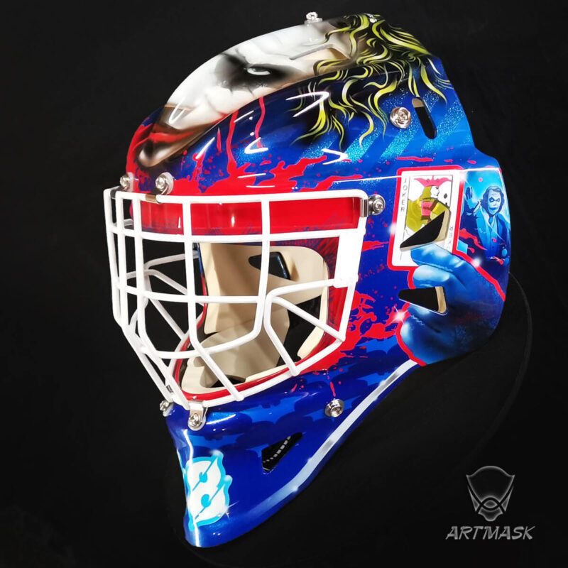 "Аэрография ""Joker"" на вратарском шлеме"